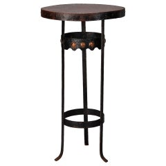 Arts and Crafts Bronze Metal Gueridon Table