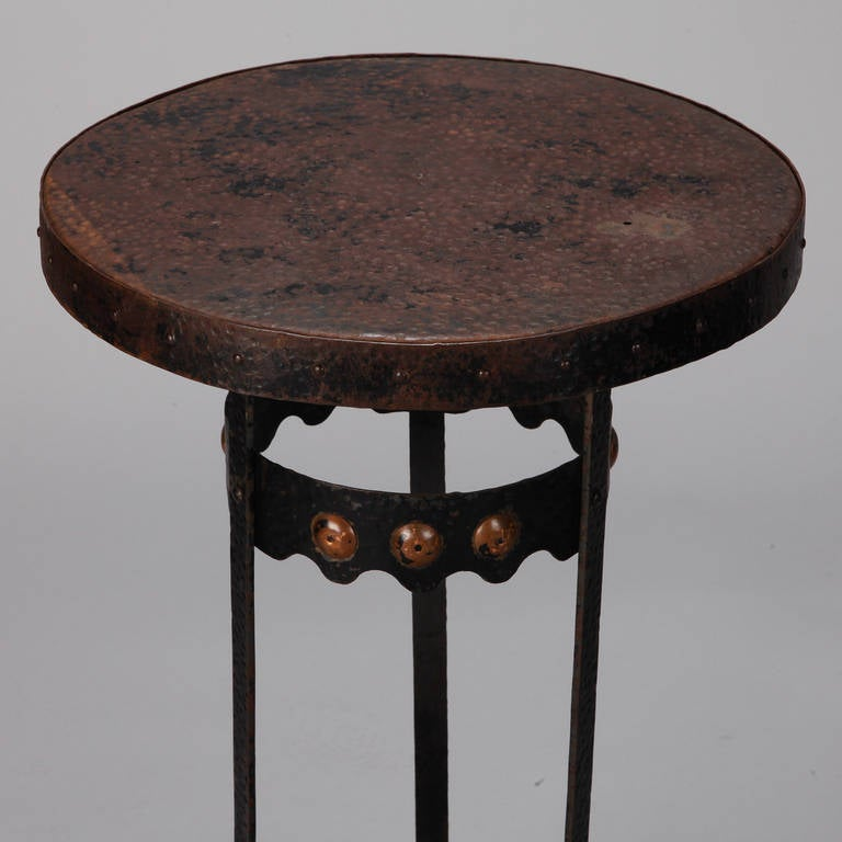 Arts and crafts bronze metal gueridon table for sale at for Metal arts and crafts