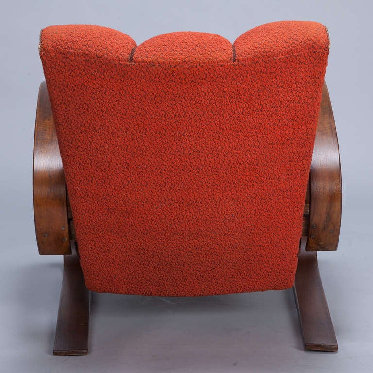 Pair Czech Cantilever Halabala Style Lounge Chairs At 1stdibs