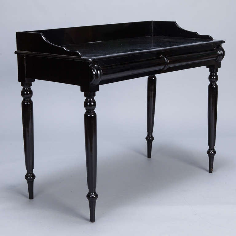 19th century near pair ebonised english console tables at for Sofa table near me