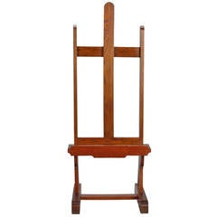 19th Century Walnut Studio Easel