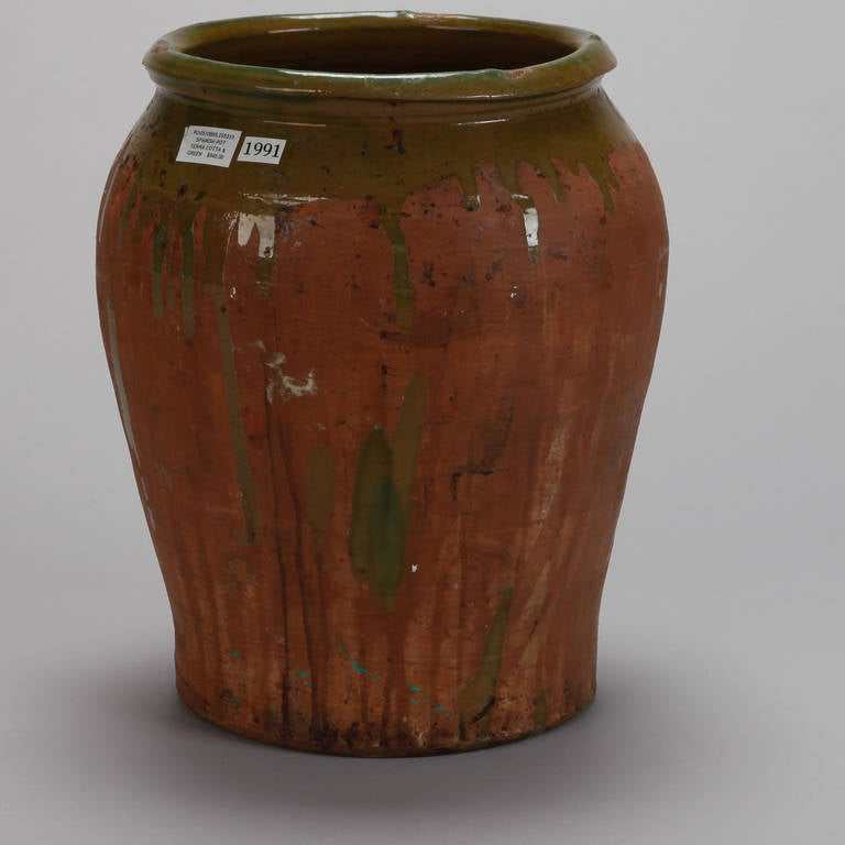 Large Spanish Terra Cotta Pot At 1stdibs
