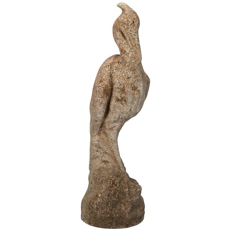 Tall Stone Garden Heron