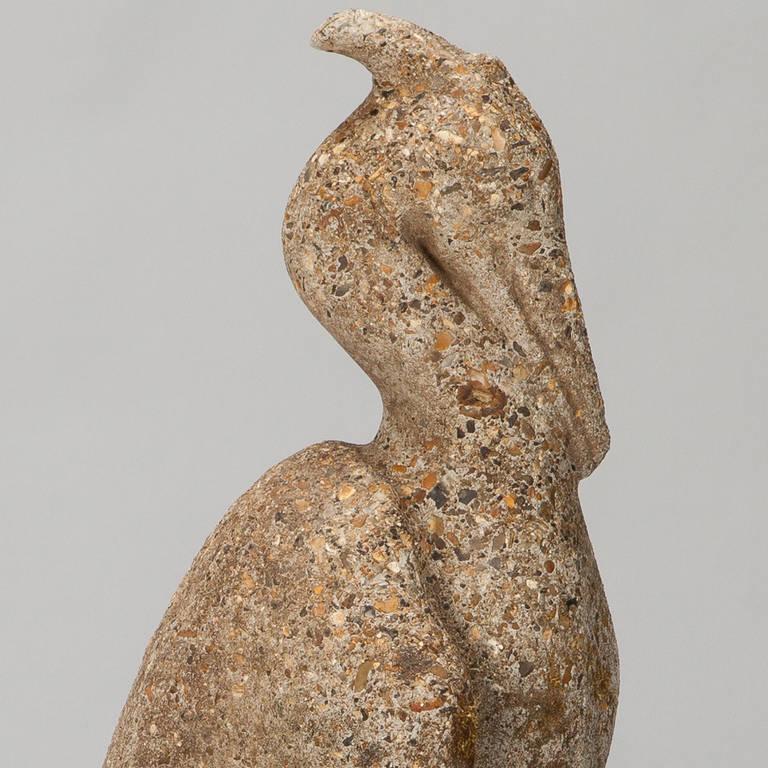 French Tall Stone Garden Heron