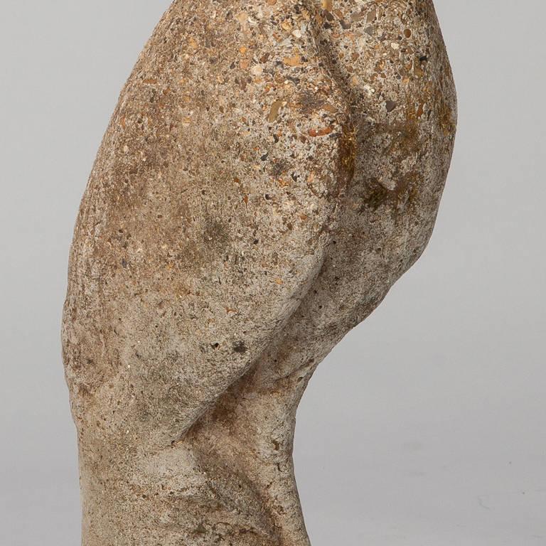 Mid-20th Century Tall Stone Garden Heron