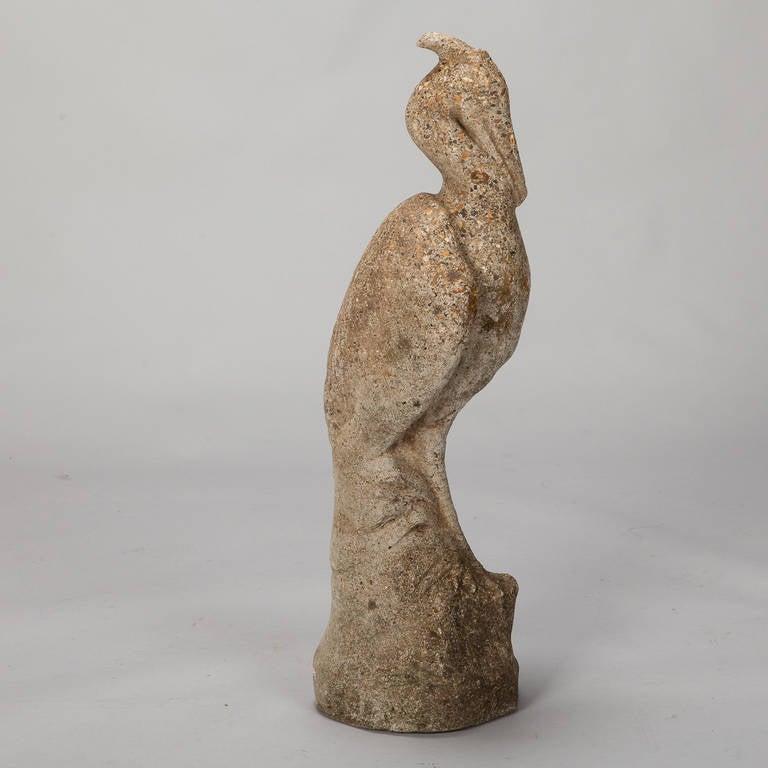 Tall Stone Garden Heron 1