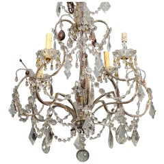 French Four Light Crystal Chandelier
