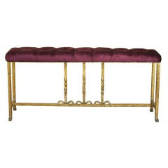 Tall Spanish Brass Base Bench