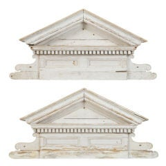 White Wood Overdoor Pediment