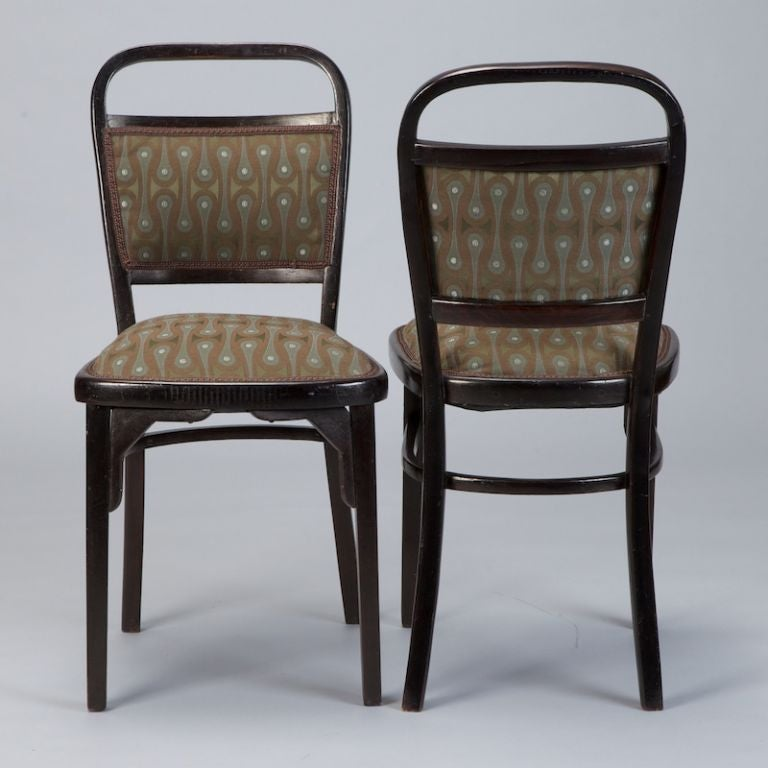 Austrian Set of Four Otto Wagner Chairs For Sale