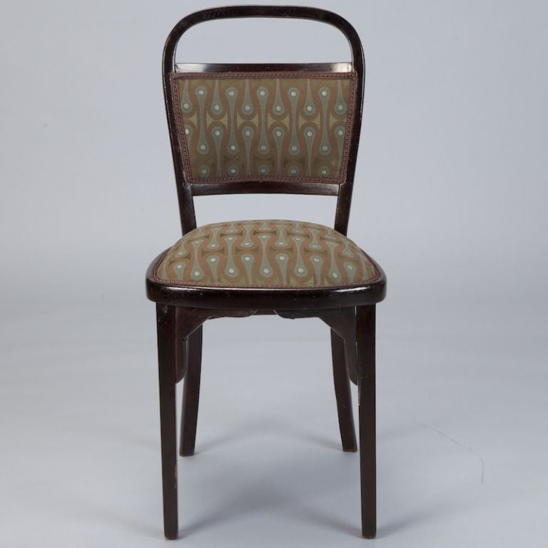 Set of Four Otto Wagner Chairs In Excellent Condition For Sale In Troy, MI