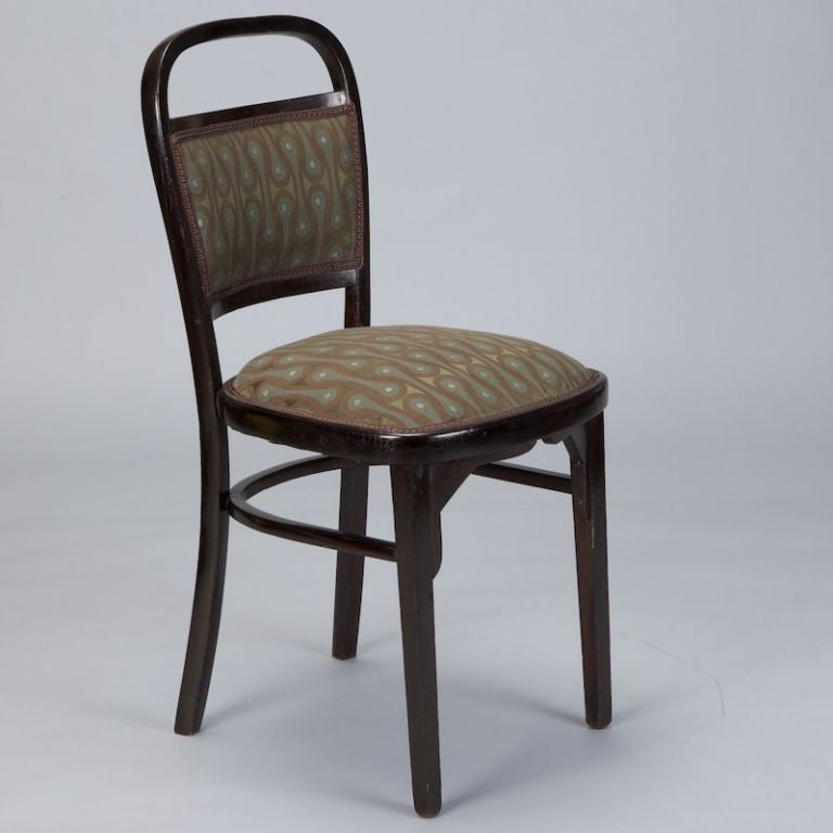 Upholstery Set of Four Otto Wagner Chairs For Sale