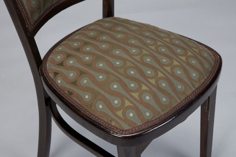 Set of Four Otto Wagner Chairs For Sale 2