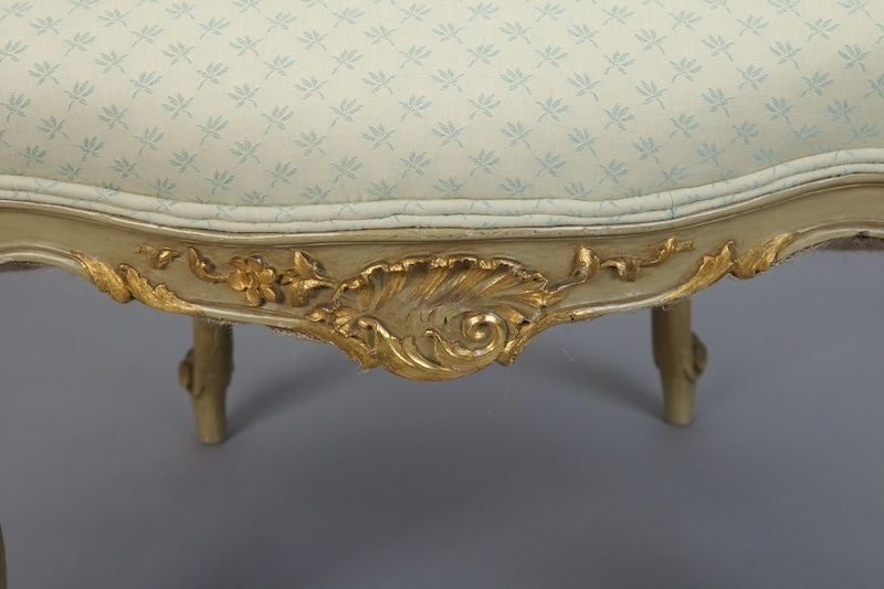 pair gilded louis xv style bergeres arm chairs fauteuils at 1stdibs