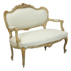 Gilded Louis XV Style Settee