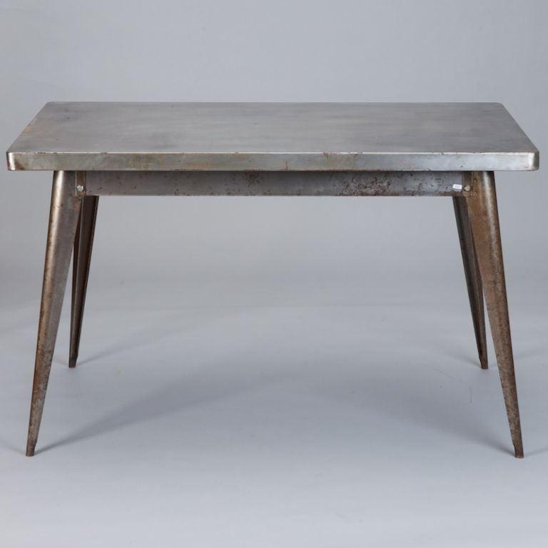 tolix metal rectangular table at 1stdibs. Black Bedroom Furniture Sets. Home Design Ideas