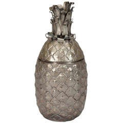 Brass Pineapple Shaped Ice Bucket