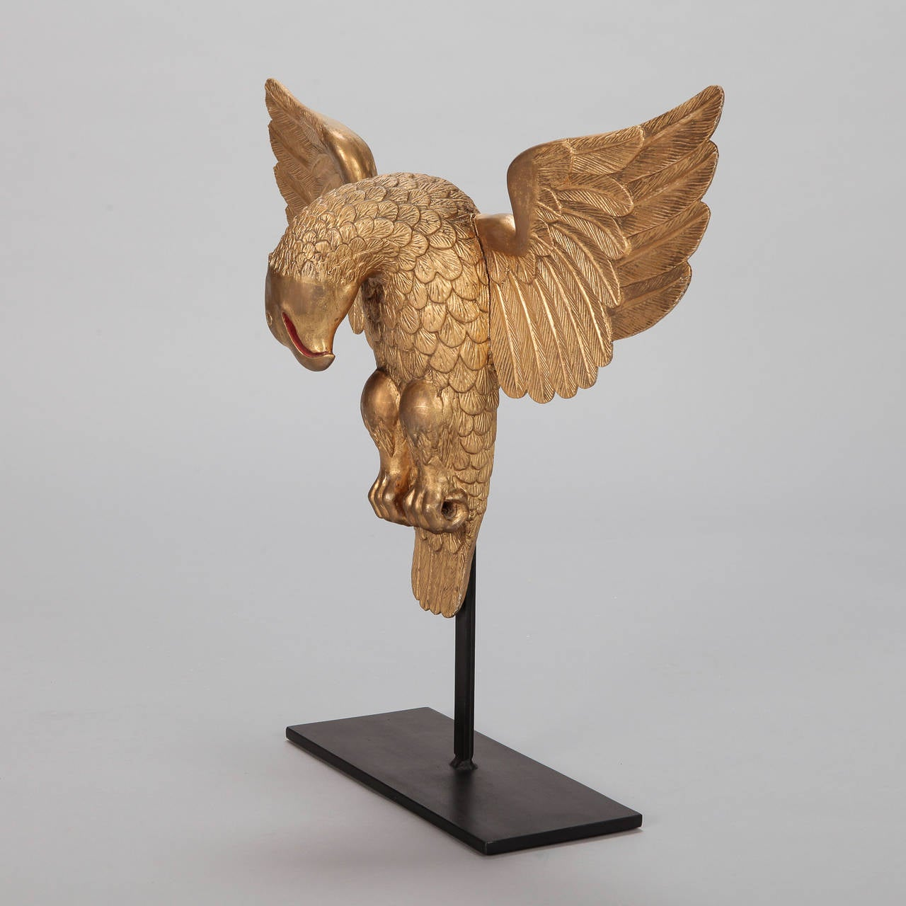 Carved Gilt Wood Eagle On Custom Stand At 1stdibs