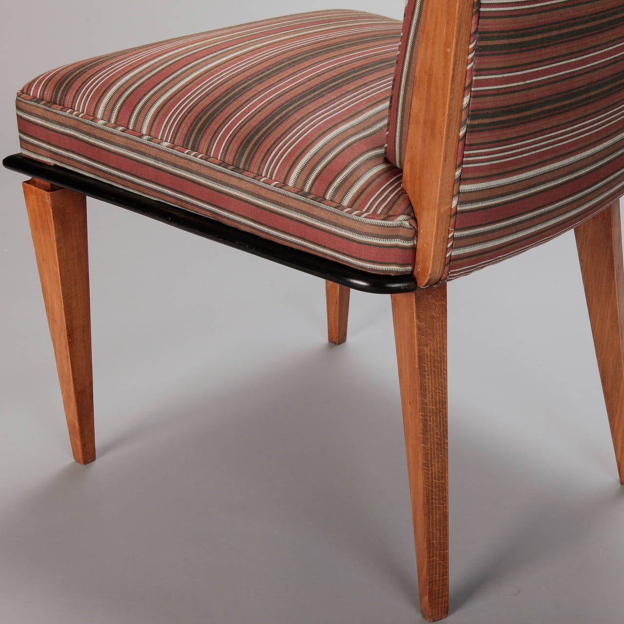 Set Of Six Beech Wood Art Deco Dining Chairs At 1stdibs