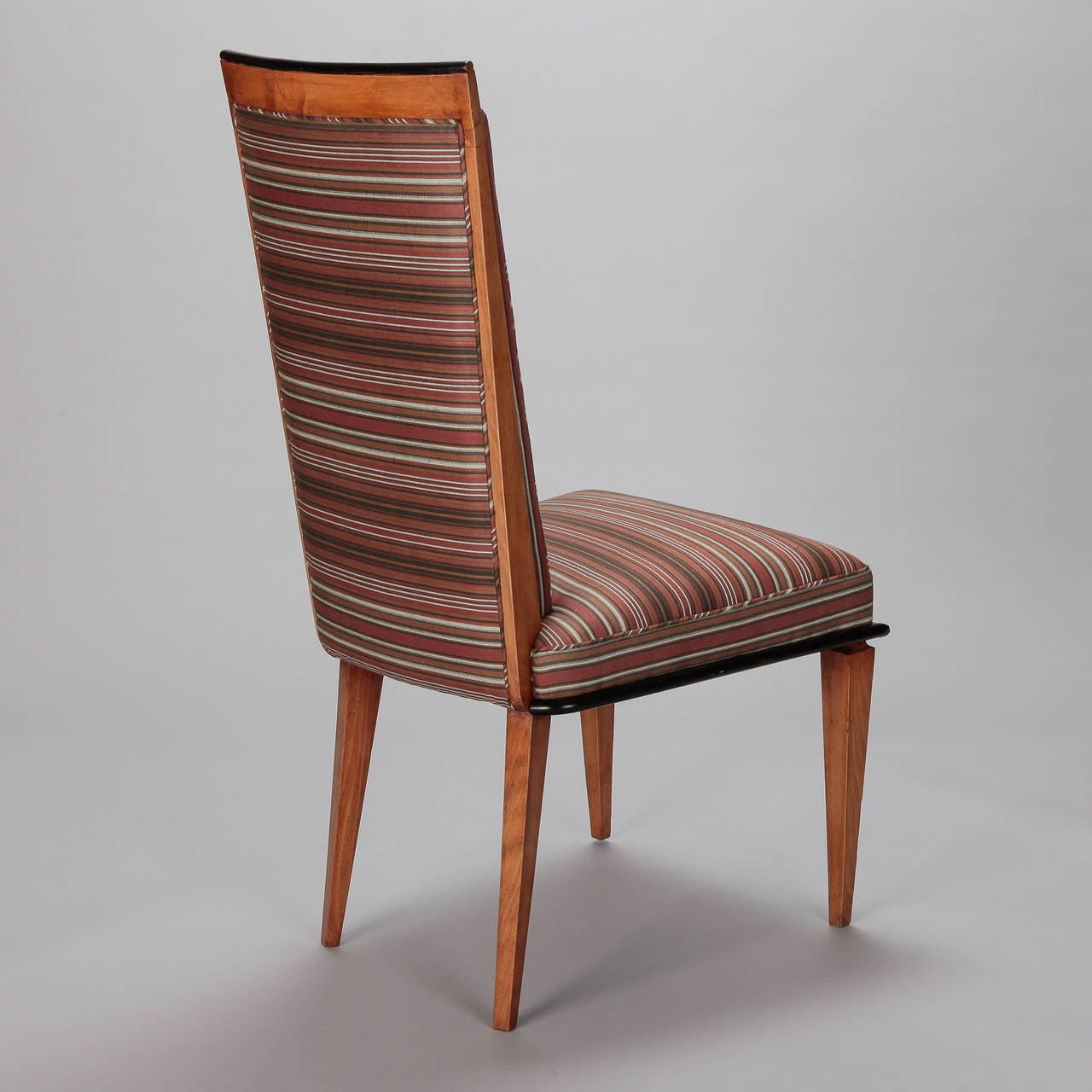Set of six beech wood art deco dining chairs at stdibs