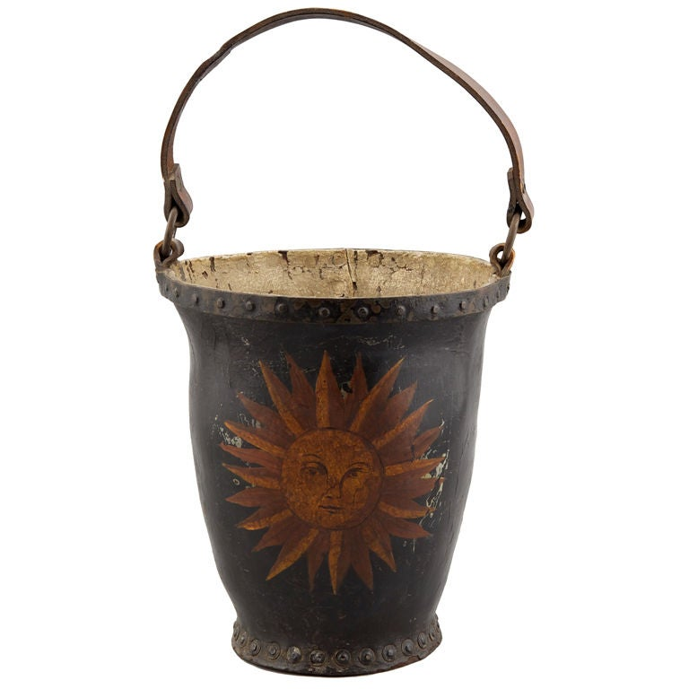 Armoral Leather Fire Bucket At 1stdibs