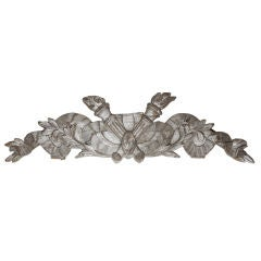 French Silver Gilt Carved Wood Architectural Fragment