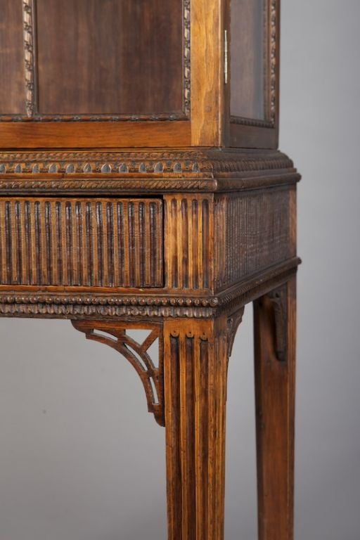 Chippendale Style Mahogany Display Cabinet On Stand At 1stdibs