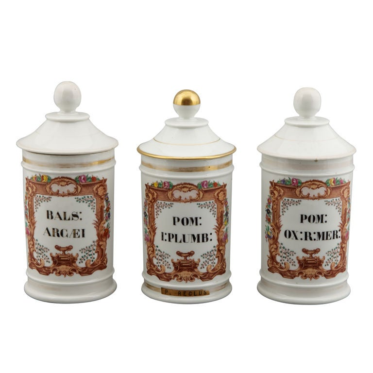 french apothecary jars vintage medications cures