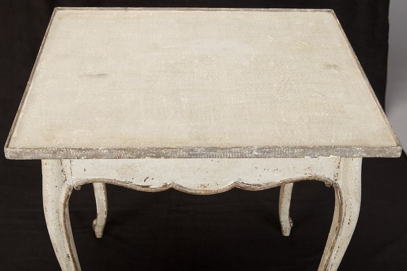 French White and Gray Painted Side Table 3
