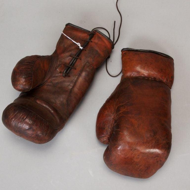 Vintage Pair Of Boxing Gloves At 1stdibs