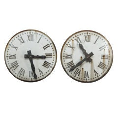 French White Clock Face With Black Numbers
