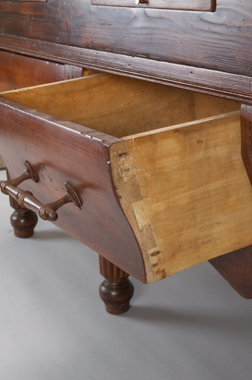 French Butcher 39 S Block Table With New Marble Top At 1stdibs