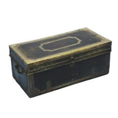Small Black Leather Studded Trunk