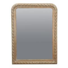 Stripped Oak Louis Phillipe Mirror