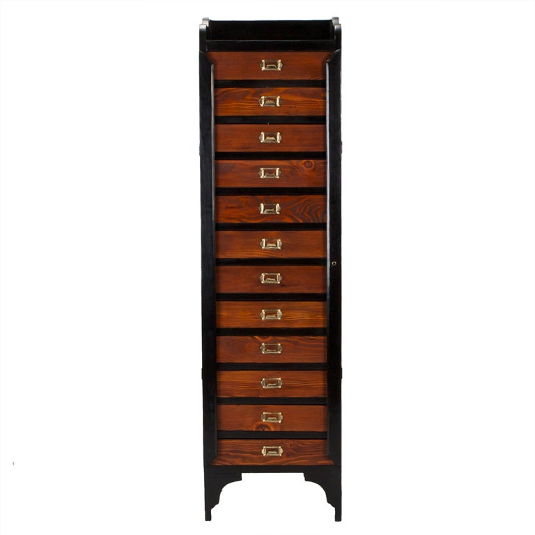 Tall Eleven Drawer Wellington Chest At 1stdibs