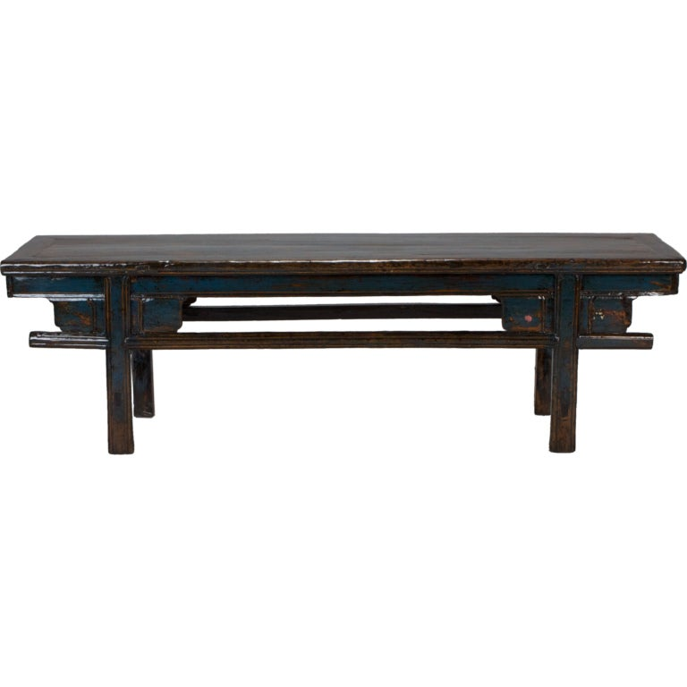 Long Painted Chinese Bench At 1stdibs