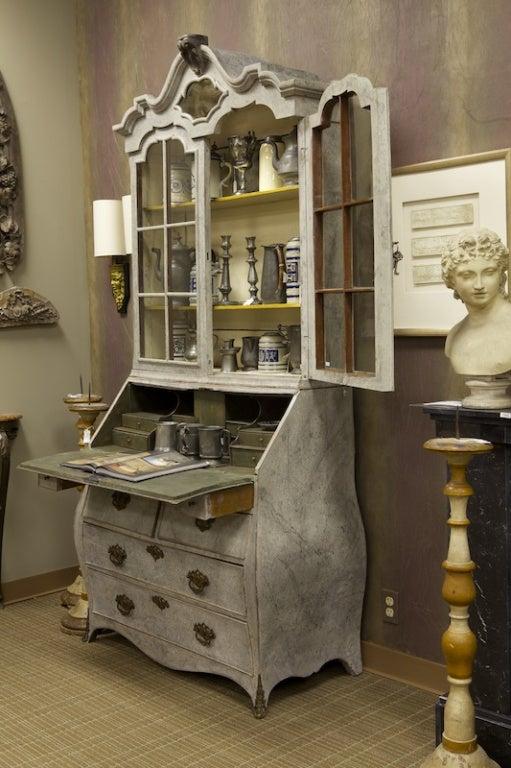 Swedish Painted Bureau Bookcase 2