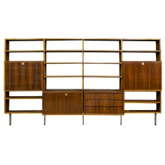 Alfred Hendrickx for Belform Mid Century Rosewood Wall Unit