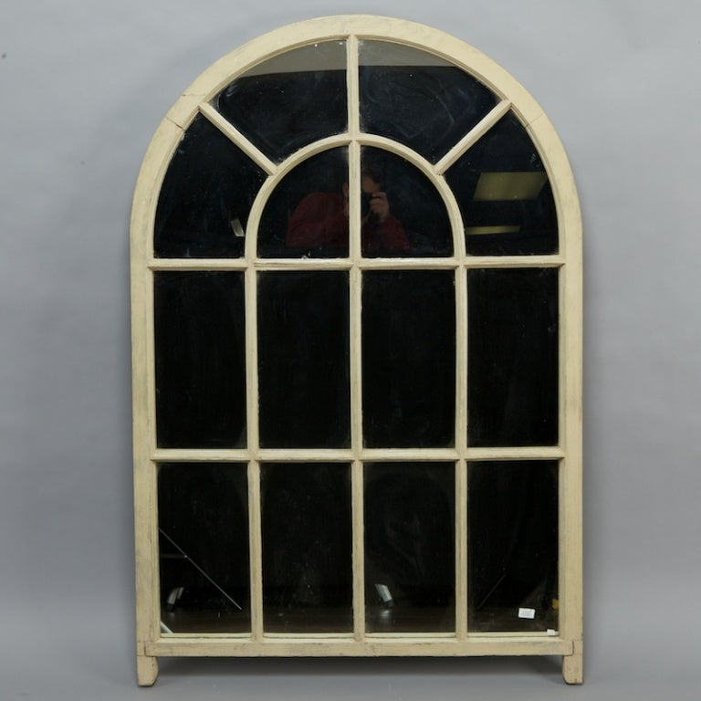 Large french arched window mirror at 1stdibs for Window mirror
