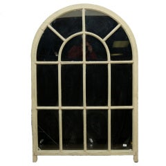 Large French Arched Window Mirror