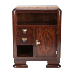 Small Art Deco Cabinet with Marble Top