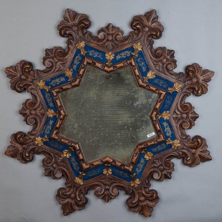 French Gothic Style Star Shape Mirror At 1stdibs