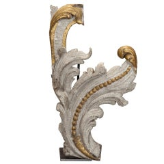 Carved and Gilded Architectural Element