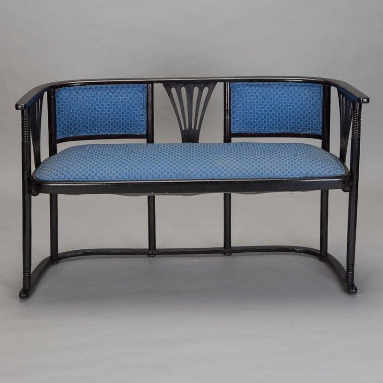 Josef Hoffmann Upholstered Bench Settee At 1stdibs