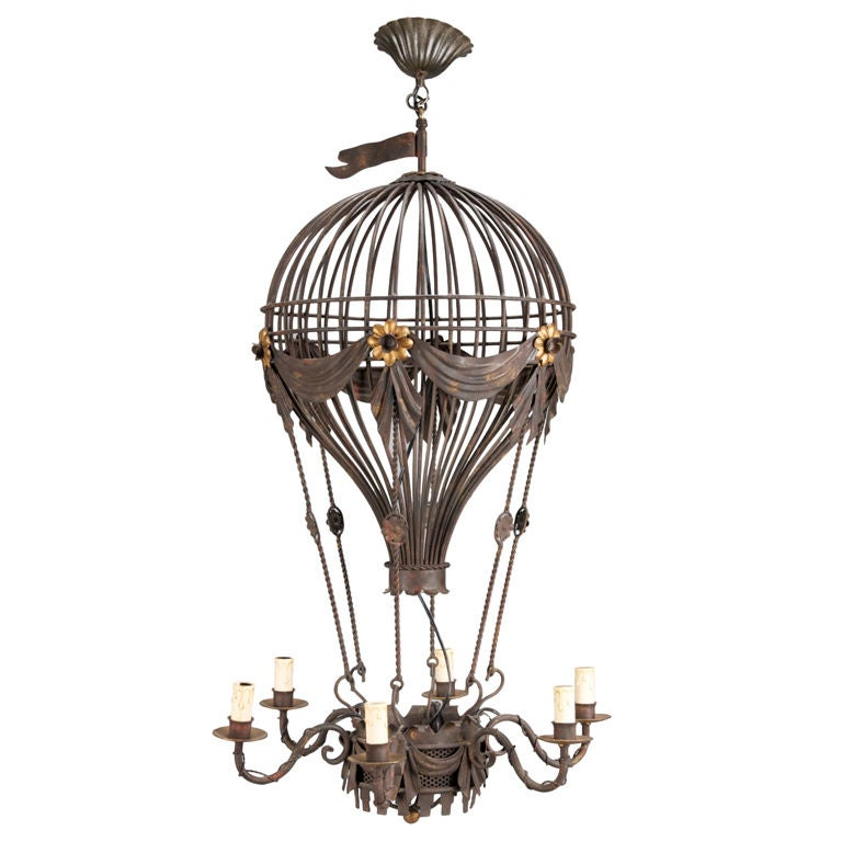 black metal balloon light fixture at 1stdibs