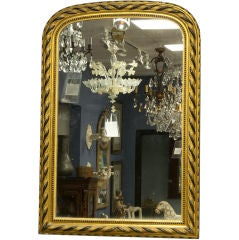 Louis Philippe Gilt and Ebonized Mirror