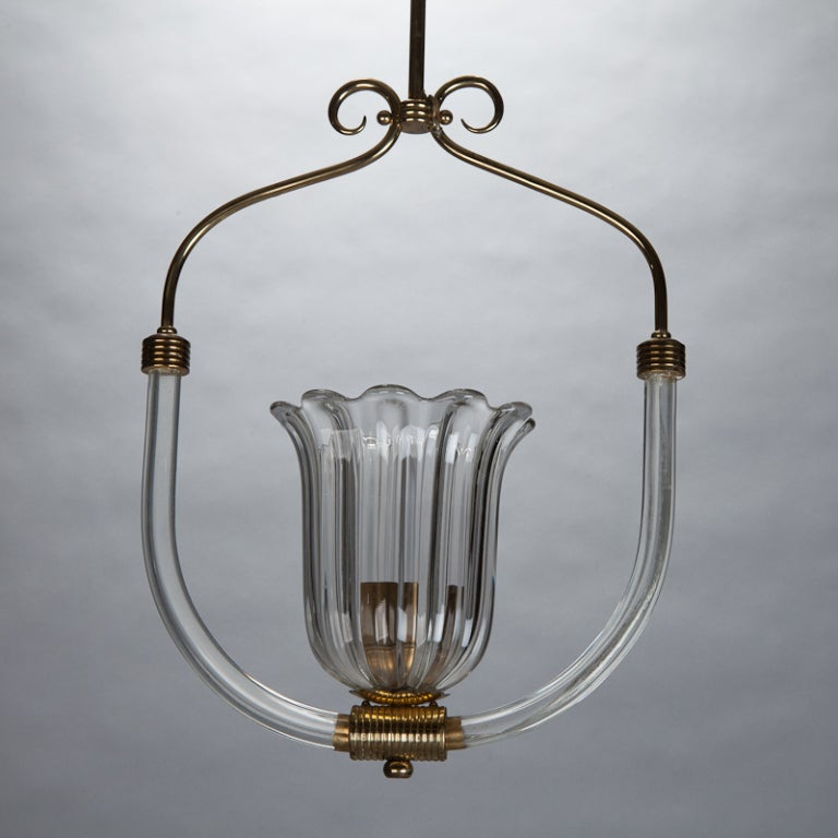 Barovier And Toso Bird Cage Style Hanging Fixture At 1stdibs
