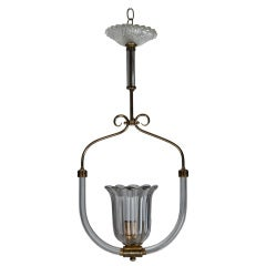 Barovier and Toso Bird Cage Style Hanging Fixture