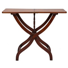 19th Century English Mahogany Folding Table