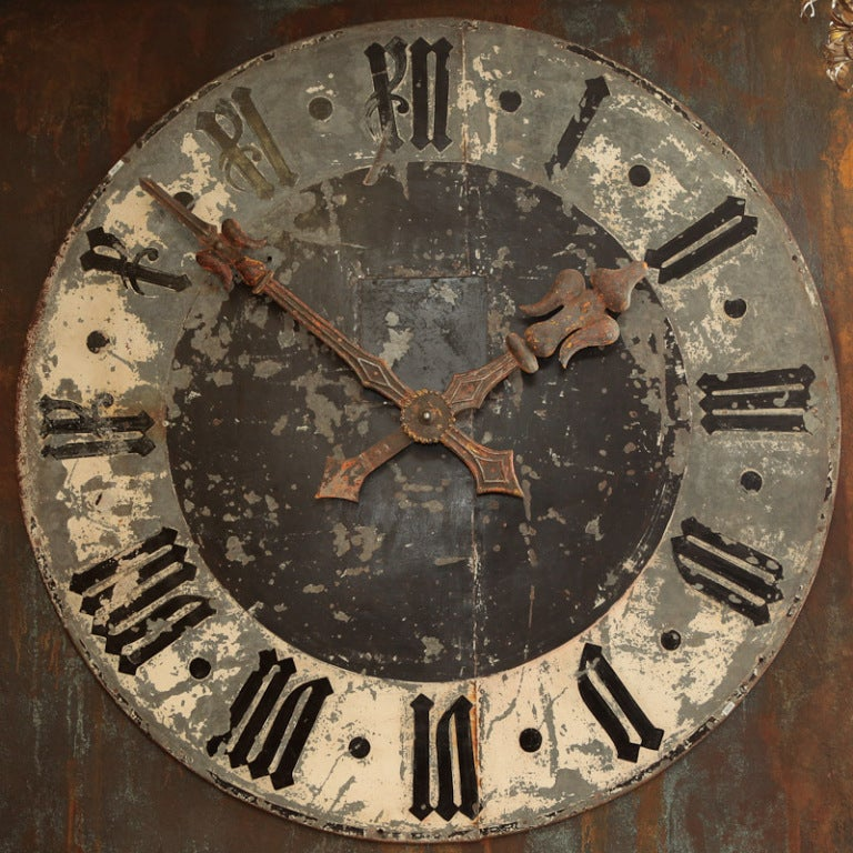Huge French Black And White Clock Face At 1stdibs